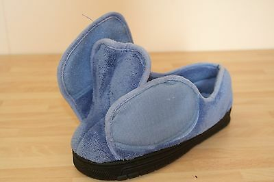 Dr Keller Ladies Light Blue Touch Fastening Sippers Shoes Size 4