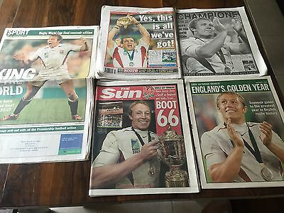Souvenir Edition Newspapers England Rugby World Cup Win 2003