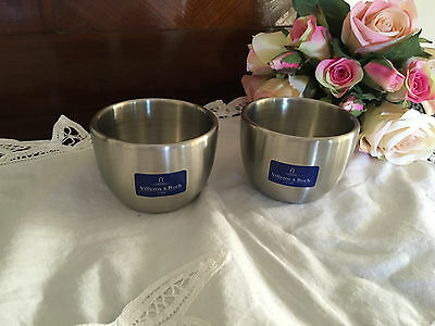 VILLEROY BOCH Set of 2 Candle Holder/Bowl/Trinkets  -  New Con