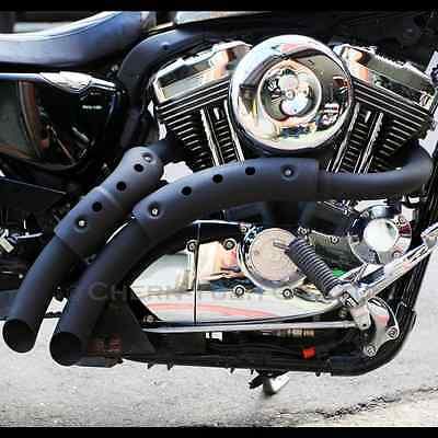 CYC LOUD Exhaust Pipes BK for Harley-Davidson SPORTSTER XL883 XL1200 2004-2013