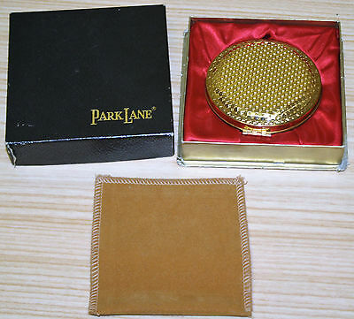 Vintage Gold Mesh Park Lane Compact In Box
