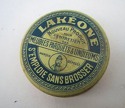 Vintage 'Lakeone, S'Emploie Sans Brosser' French Polish Tin - unopened