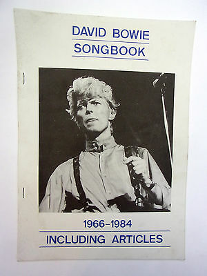 David Bowie Songbook / articles 1966-1984