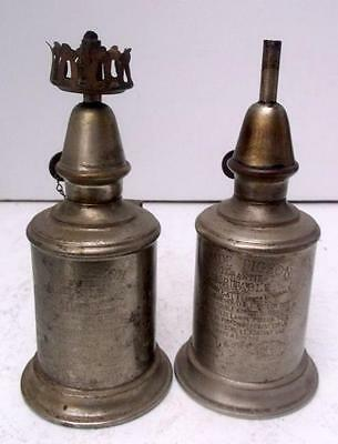 2 Vintage French Pigeon Oil Lamps