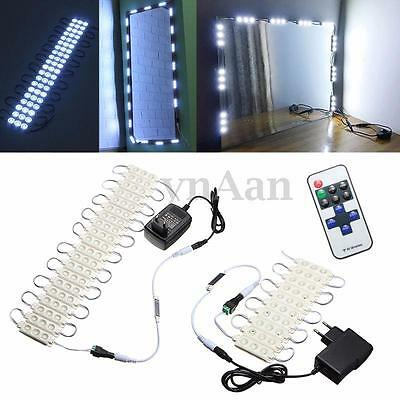 Mirror LED Light For Cosmetic Makeup Vanity Mirror Lighted White+Power Adapter