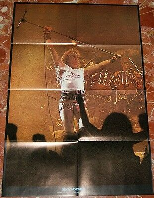 Saxon Spanish Giant Poster Book 1984 Lots Of Pics+Giant Poster