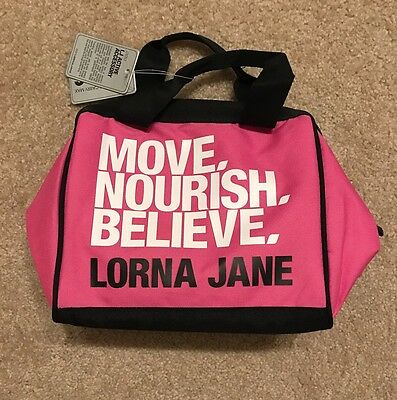 Lorna Jane Insulated Lunch Bag - Navy & Pink