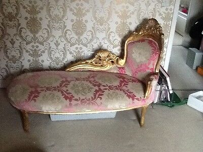 chaise lounge   antique gold french gilt