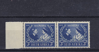 South Africa KGVI Royal Silver Wedding SG 125 Pair Mounted Mint