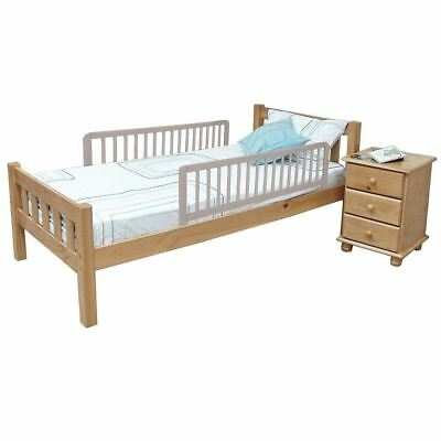Safetots Double Sided Wooden Bed Rail Grey - 2 Folding Child Bed Guards