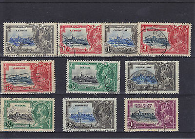 Mixed Commonwealth KGV Silver Jubliee Used Collection (2)
