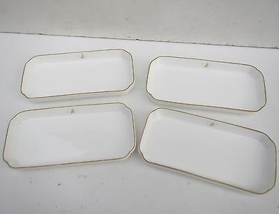 4 Vintage Royal Doulton Porcelain BRITANNIA AIRWAYS Dishes - soap dishes?