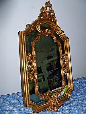 Vintage Italian Gold Ornate Wall Mirror ITALY