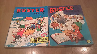 2 Consecutive Buster Book Annual Paperback 1974 Vg/fn 5.0 And 1975 G/vg Fleetway