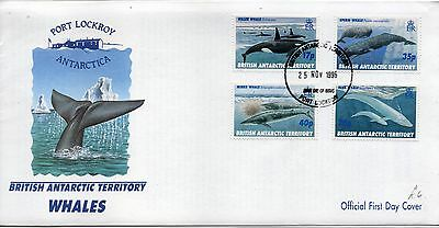 First day cover ;Whales, 1996,s.g.265/8