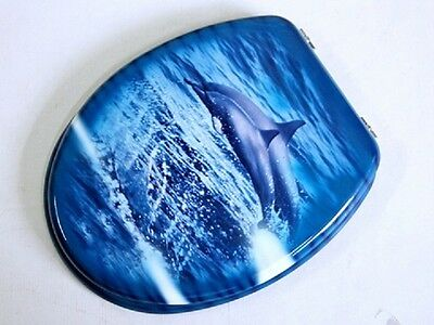 1X Ocean Dolphin Toilet Seat & Cover furn466