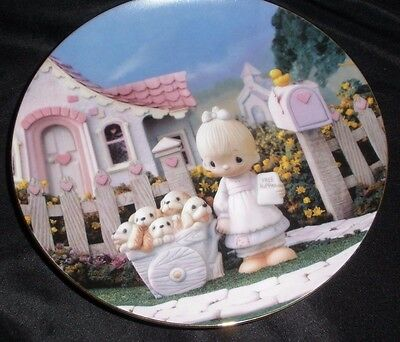 """Collectors Hanging Plate Enesco Precious Moments """"God Loveth A Cheerful Giver"""""""