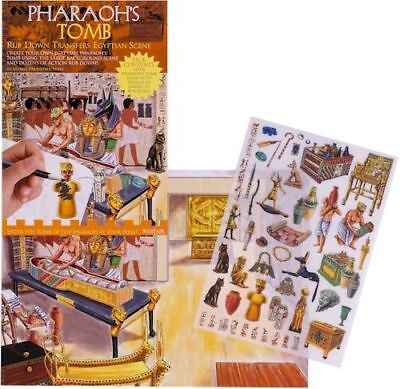 New Pharaoh's Tomb Ancient Egyptian Rub Down Transfer Activity Pack. Westair