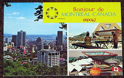 Expo 67 View of Montreal Canada Pavilion Theme Pavlions 1967 c