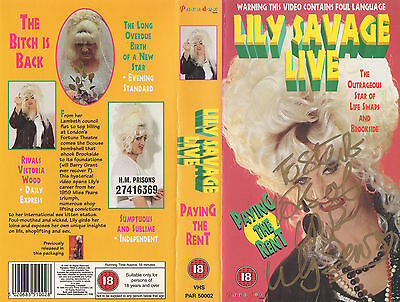 Lily Savage Live - Paying The Rent - Video + Original Autograph - Gay Interest
