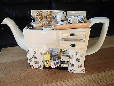 Cardew Novelty Collectible Limited Edition Large Teapot Sink No Chips Or Cracks