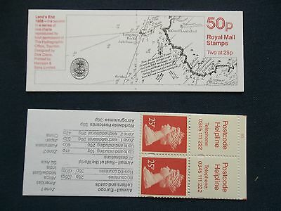 Fb73 Sea Charts Lands End 1808 50P Machin Stamp Booklet Ufb70 Cylinder B5