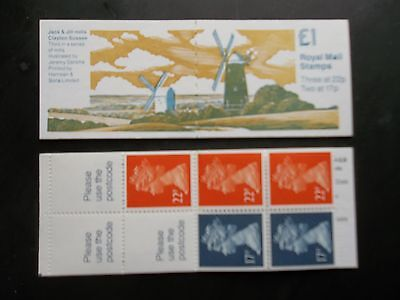 FH21 MILLS No3 JACK and JILL WINDMILL CLAYTON £1 MACHIN STAMP BOOKLET UMFB48 4MM