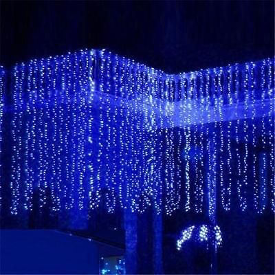 3M x 3M 300 LED Fairy String Light Curtain Christmas Decorations Wedding T-STORE