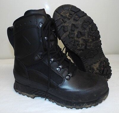 HAIX BLACK LEATHER HIGH LIABILITY COMBAT BOOTS - Size: 6 m, British Army Issue