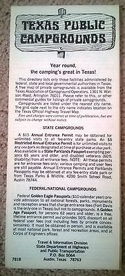 Vintage brochure of the Campgrounds of Texas, circa 1970