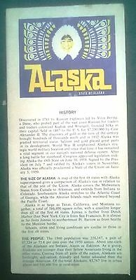 Vintage map and flyer for Alaska, early 1960s