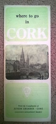 Vintage Tourist Guide and Map of Cork, Ireland, 1970s