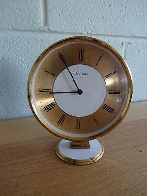 A Vintage Retro Round Mantle Clock H Samuel Made In West Germany • £24.99