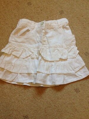 Girls White Skirt Next Age 4-5 Frilly Layered