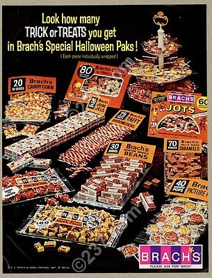 1967 Brach's Halloween candy bat Jots etc photo vintage print ad