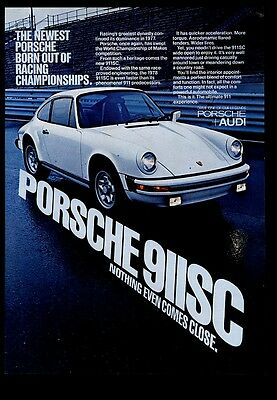 1978 Porsche 911SC 911 SC car color photo vintage print ad