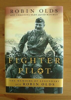 ROBIN OLDS hardcover AUTOBIOGRAPHY true first edition fighter pilot BOOK