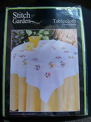Stitch Garden  Tablecloth Embroidery Kit 80 X 80 32X32 In