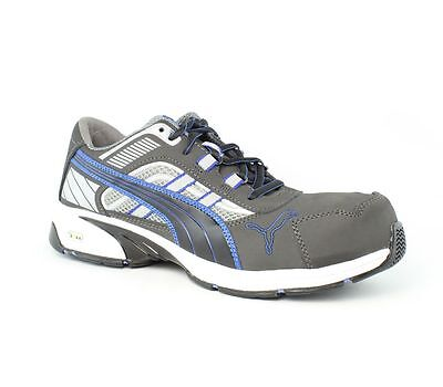 Puma Safety Pace Low SD Grey/Blue Shoes Mens size 10 M New $127