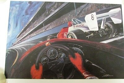 1988 Buick Limited Ed Print Steve Pasteiner American Racing Series Indy Car Race