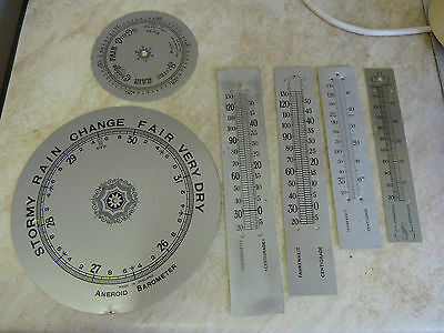 Lot Old- Used Aneroid Barometer Dials & Scales