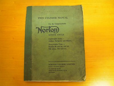 Classic Norton Twin Cylinder Motorcycle Manual Lightweight & Heavyweight Twins.
