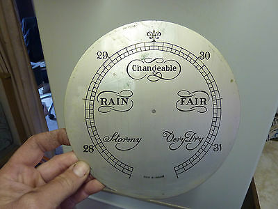 "Old Aneroid Barometer 8 1/8"" Dial--Well Engraved (C)"