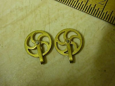 Good Pair Minature Vienna Regulator Ornate Line Pulleys