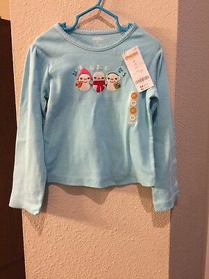 Gymboree Girls Size 2T Snowman Long Sleeve Top Shirt NWT