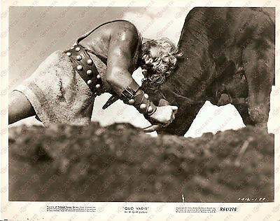 1951 QUO VADIS Buddy BAER fights with a bull - Movie by MANN-LeROY *Foto seriale