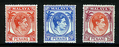PENANG MALAYA KG VI 1949-52 Definitive Part Set SG 12 to SG 17 MNH