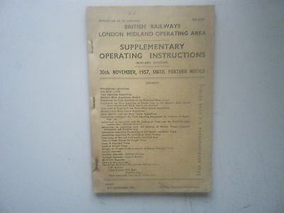 1957 BR London Midland Area Supplementary Operating Instructions