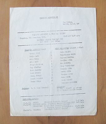 CHARLTON ATHLETIC v WEST HAM UNITED Youth - Southern Junior FC Replay 1973/1974