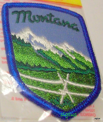 Vintage MONTANA Put-Ons by Lion Patch Souvenir Embroidered Sew or Iron! NEW MIP!